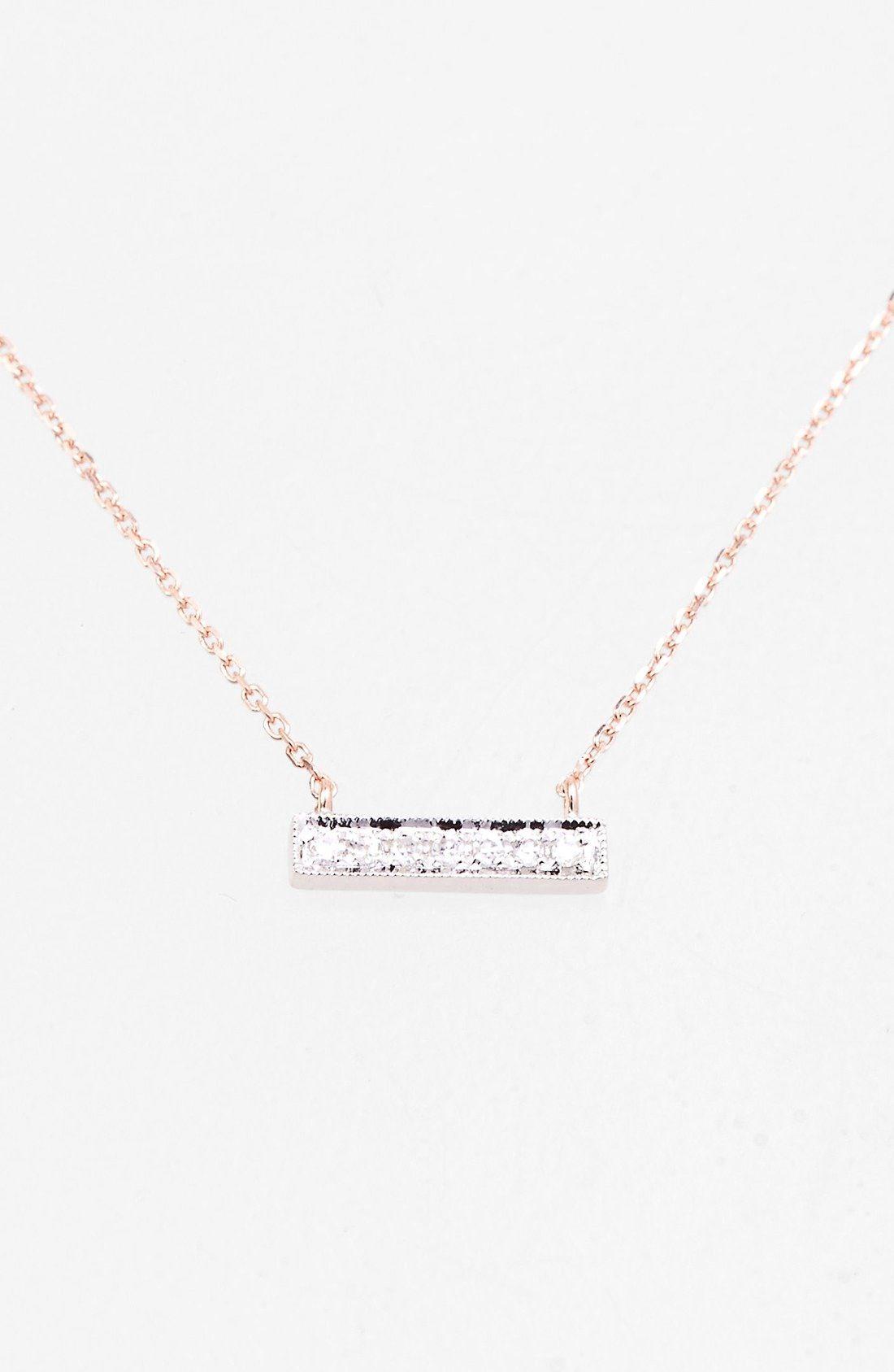 Dana Rebecca Designs Sylvie Rose Diamond Bar Pendant