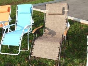 Newtons Zero Gravity Lounge Chair With Sunshade And Drink Tray