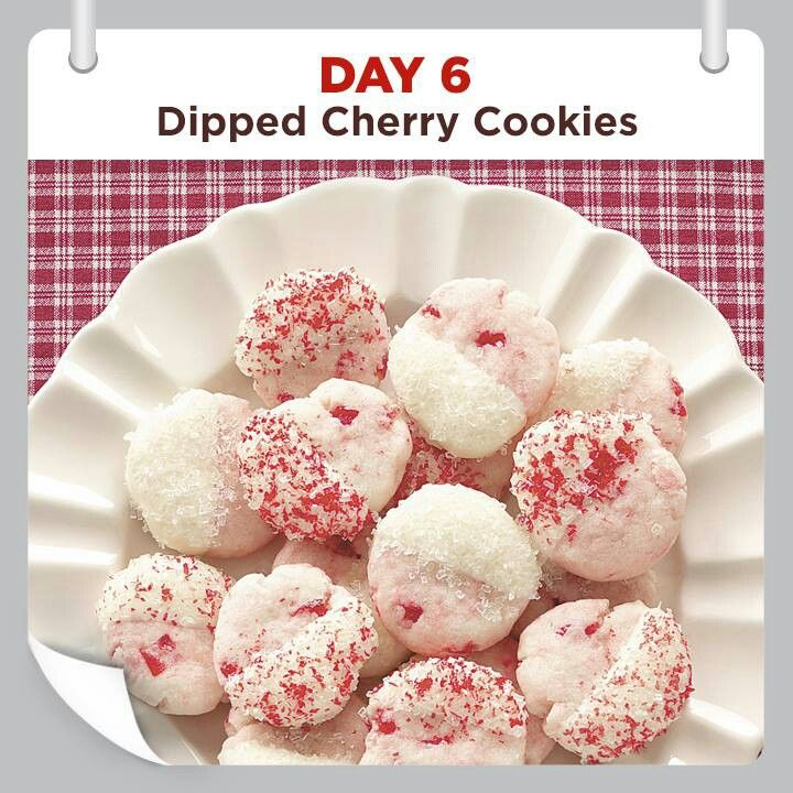 Dipped cherry cookies..