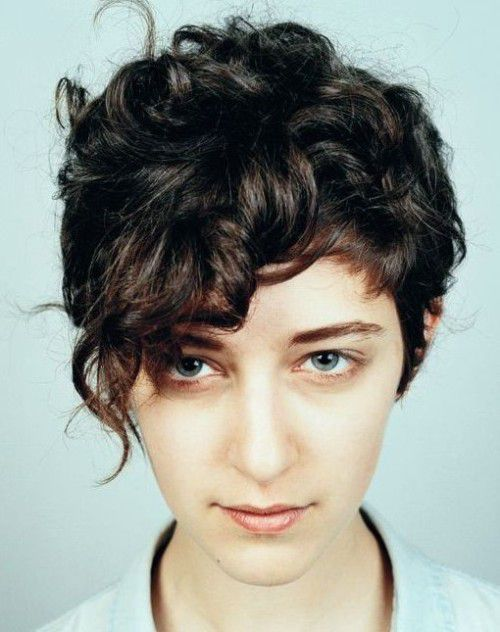 Edgy Asymmetrical Short Curly Hairstyles Curly Pixie
