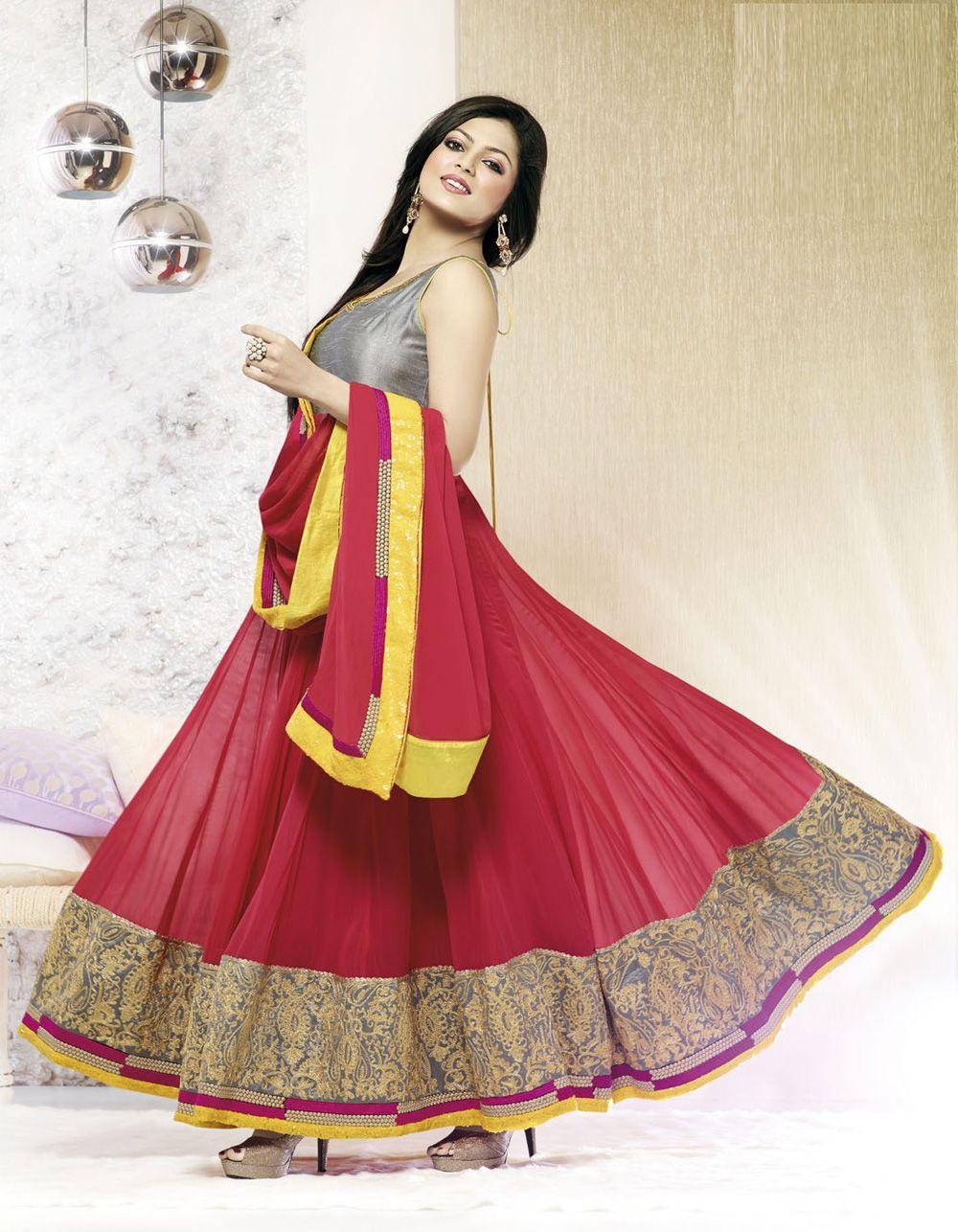 Designer salwar kameez mesmeric peach color net designer suit - Find This Pin And More On Madhubala Designer Salwar Kameez