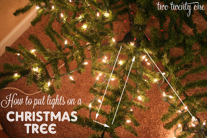 How To Put Lights On A Christmas Tree Too Late For This Year But Pinning