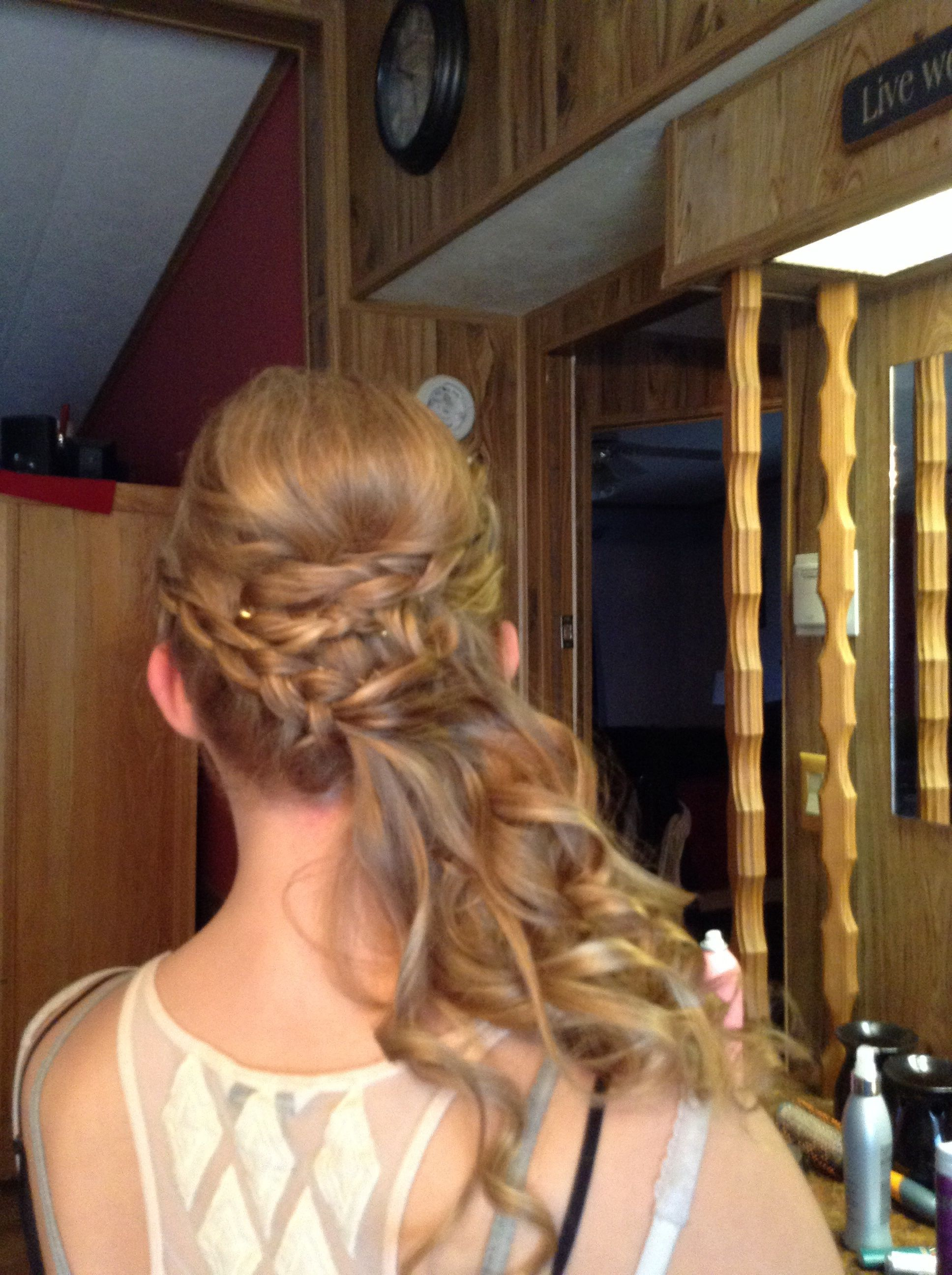 my hair for the middle school dance! 😋 | hairstyles that my