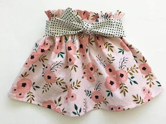a40239a32 Pink Floral Watercolor Ruffle Twirl Skirt Newborn / Baby / Toddler / Girls  Ruffles, Batoľatá