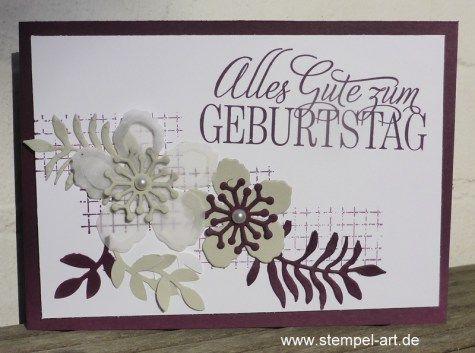 Botanischer Garten Nach StempelART, Stampin Up, Botanical Blooms, Pflanzenu2026