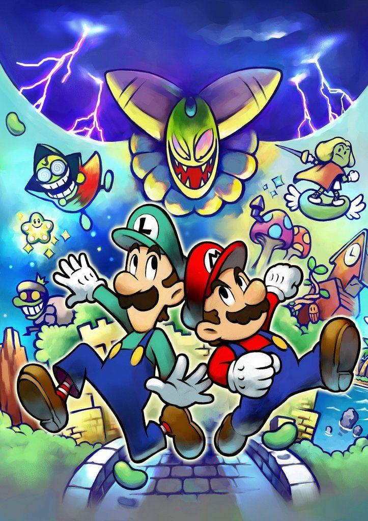 Mario Luigi Poster With Images Mario And Luigi Mario Luigi