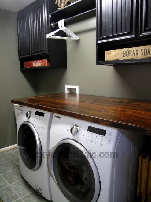 Wood Countertop Diy With Images Laundry Room Countertop Diy