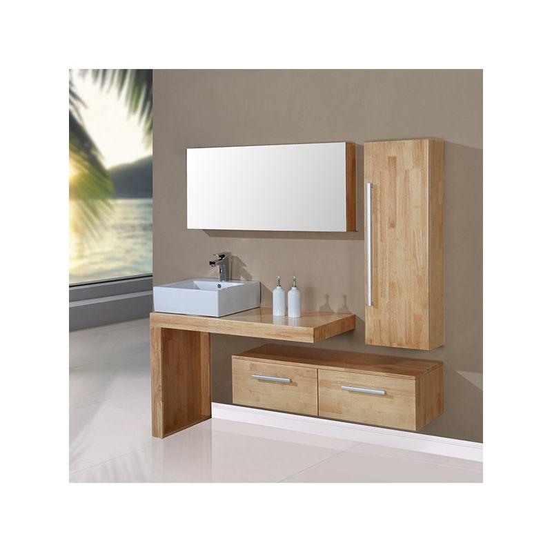 DIS9250SC Meuble salle de bain scandinave - Meuble Vasque A Poser Salle De Bain