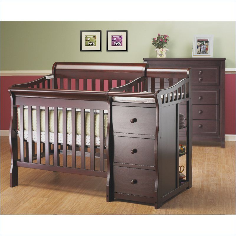 convertible princeton cribs toddler e with rail espresso jdee tuscany changer crib in sorelle