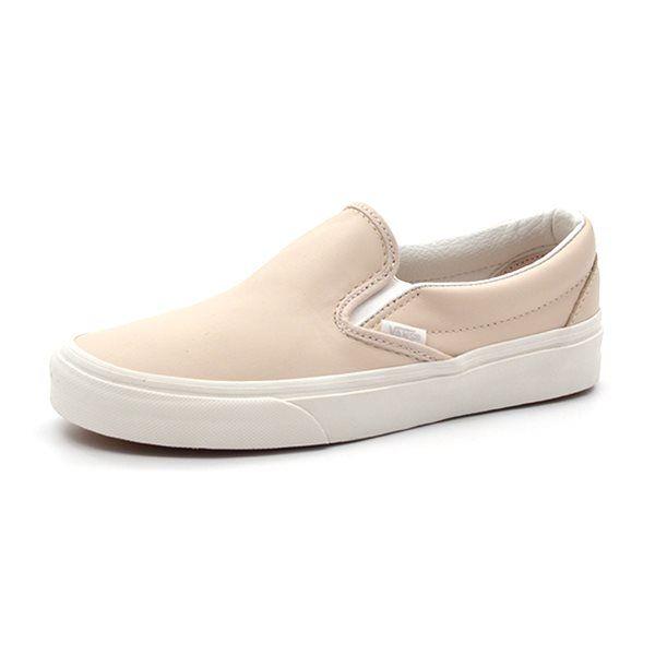 vans classic slip on beige