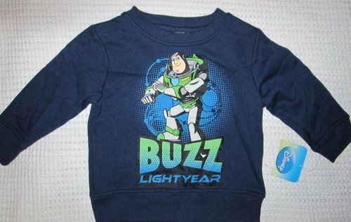 New Disney Boys Buzz Lightyear Navy Blue SweatShirt Size 12 Months NWT  $9.95