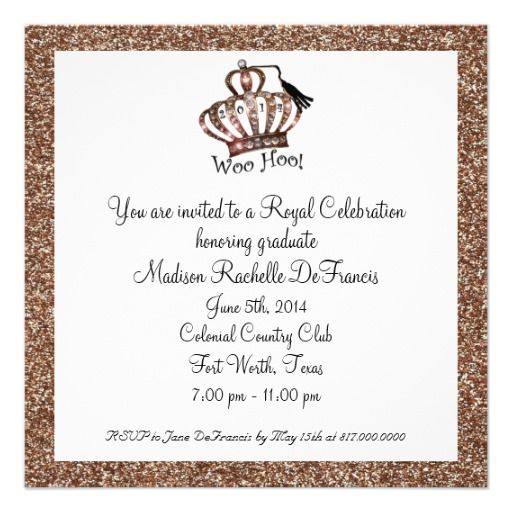 2014 Graduation Tiara Invitations In our offer link above you will