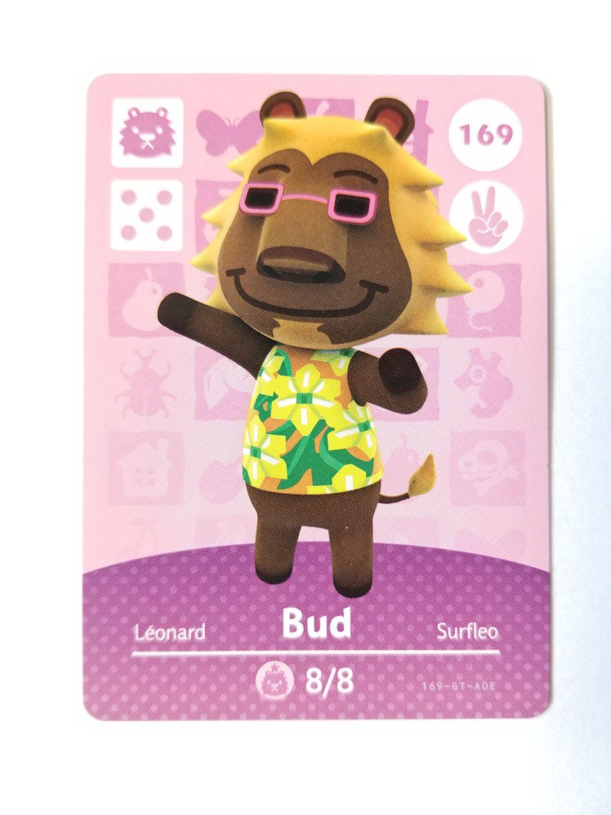 Animal Crossing Amiibo Card Bud 169 Mercari In 2020 Animal