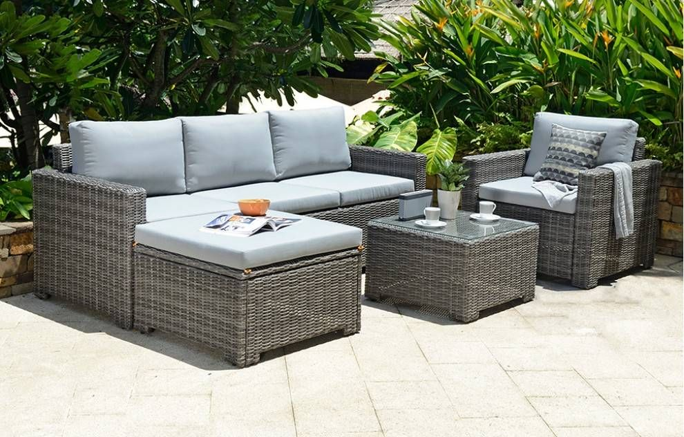 Marbella Corner Lounge Set 5 Seats With Images Garden Sofa Set Outdoor Lounge Set Rattan Garden Furniture