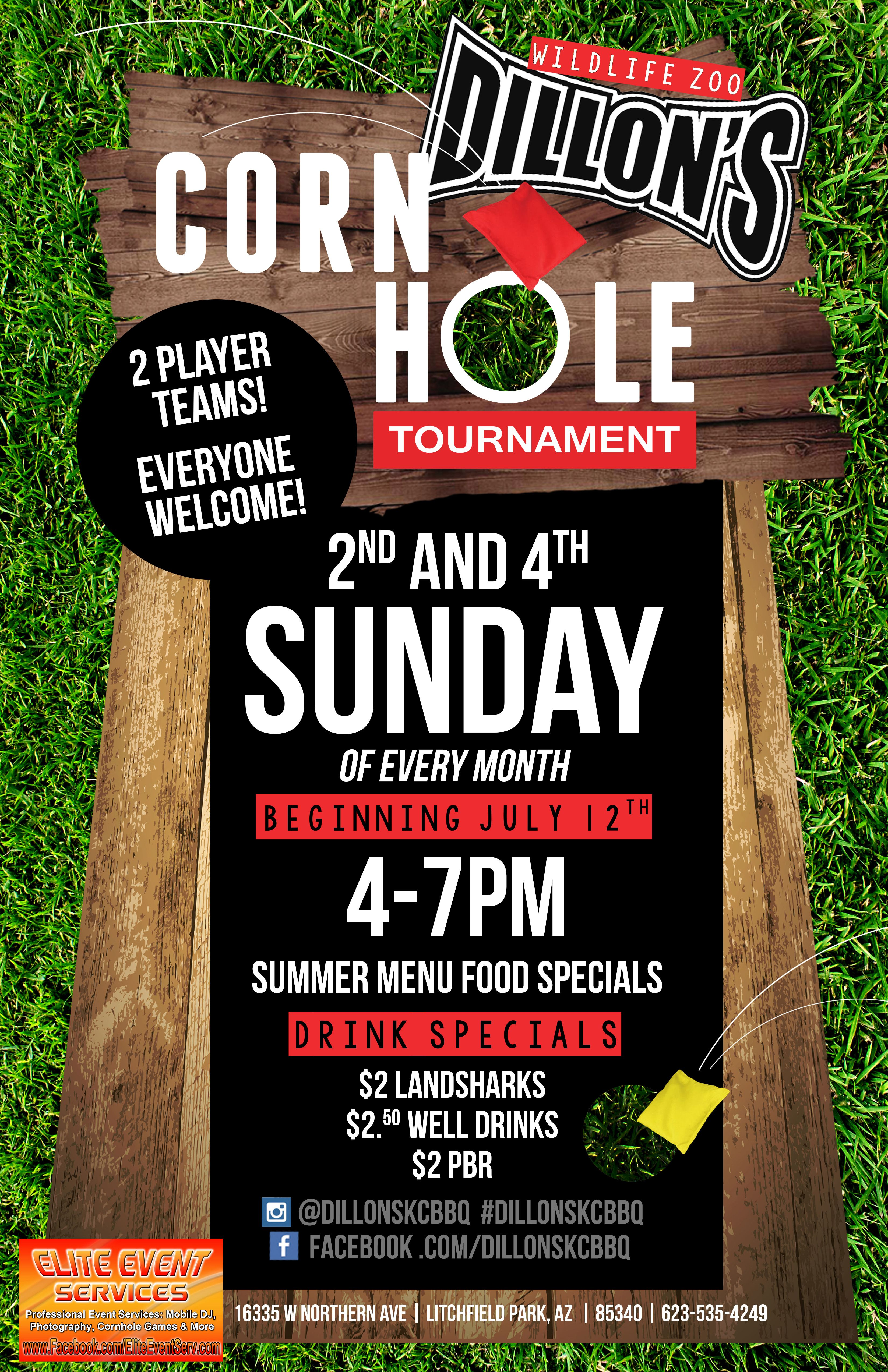 Cornhole Tournament at the ZOO Call 6235354249 for more