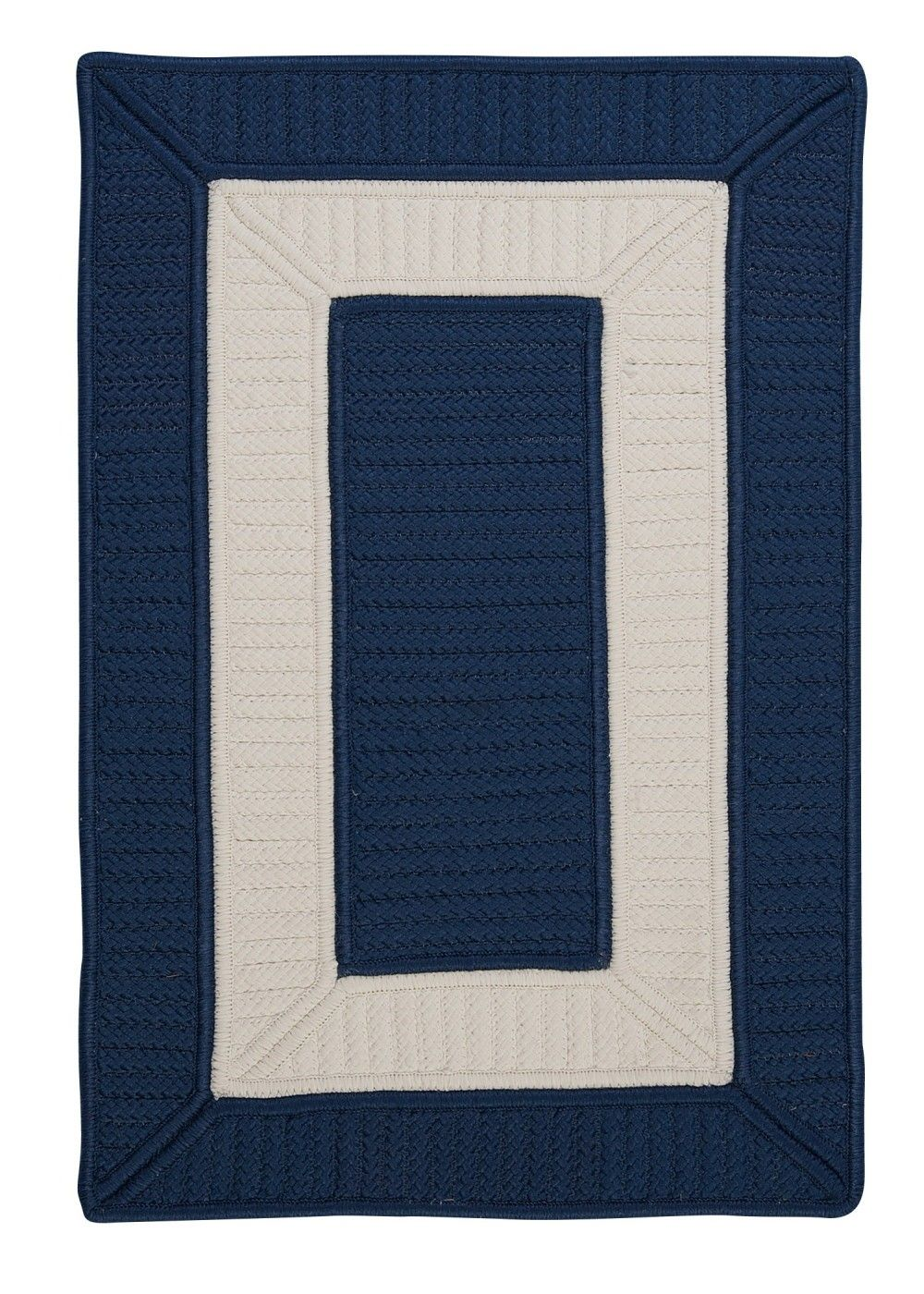 Navy Blue Bathroom Rugs: Rope Walk Area Rug - Navy Blue And White