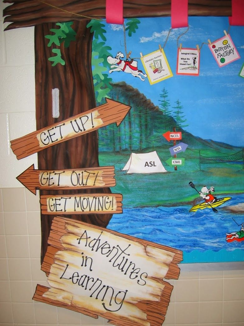 hiking trail bulletin board ideas - Google Search | Camp read alot ...