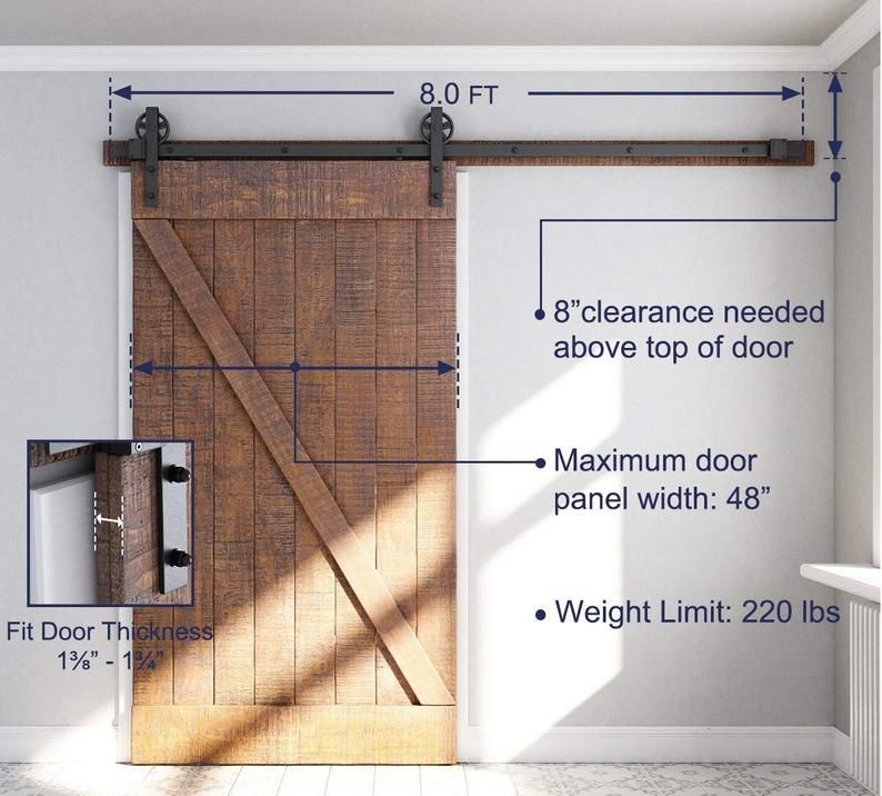 Barn Door Hardware Kit Sliding Roller For Single Closet Doors Etsy In 2020 Barn Door Hardware Barn Door Door Hardware