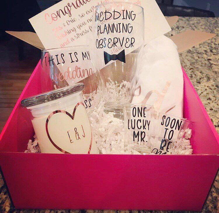 Engagement gift for couple bridal shower gift gift for