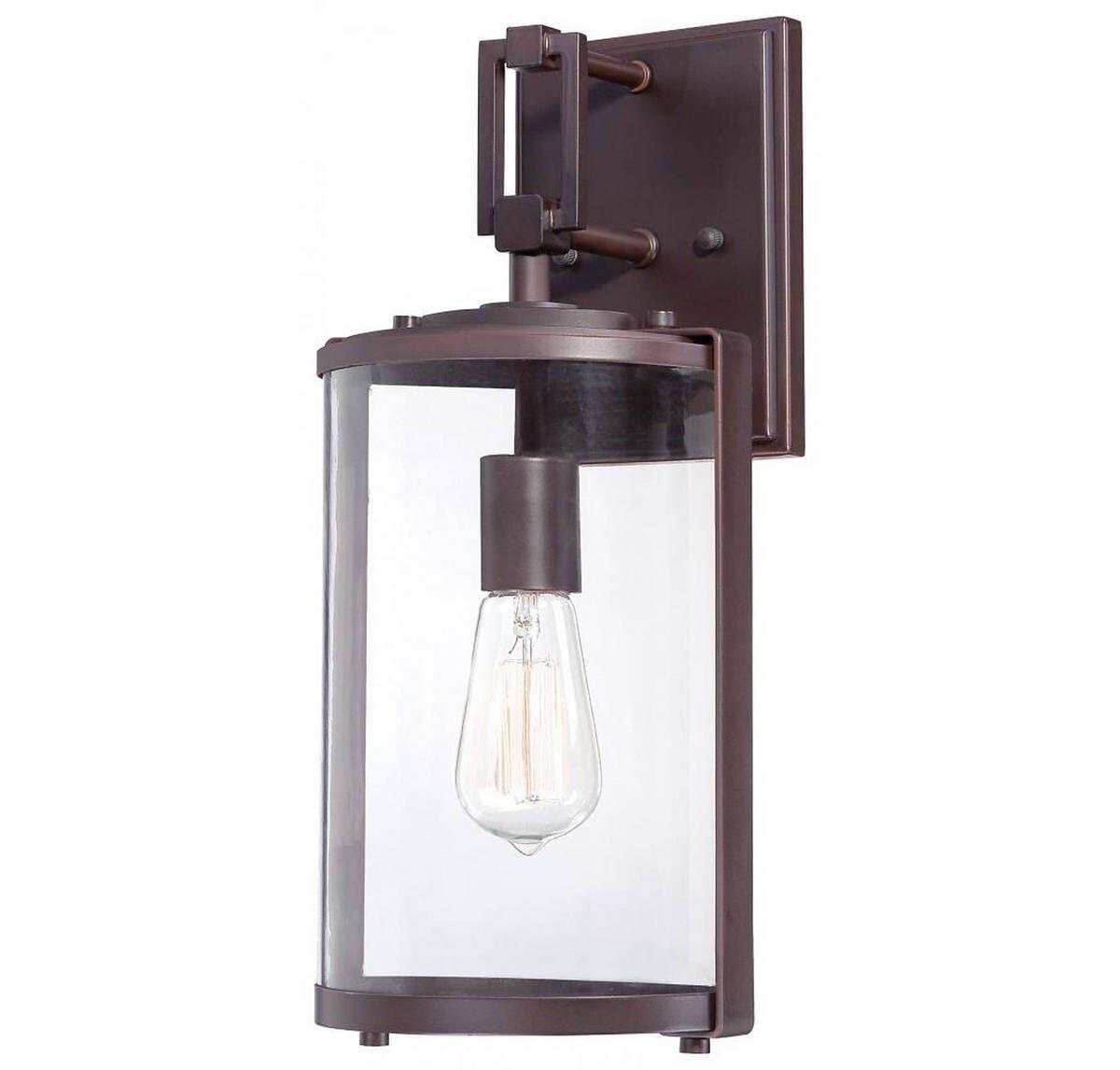 Ladera Outdoor Lantern In Alder Bronze