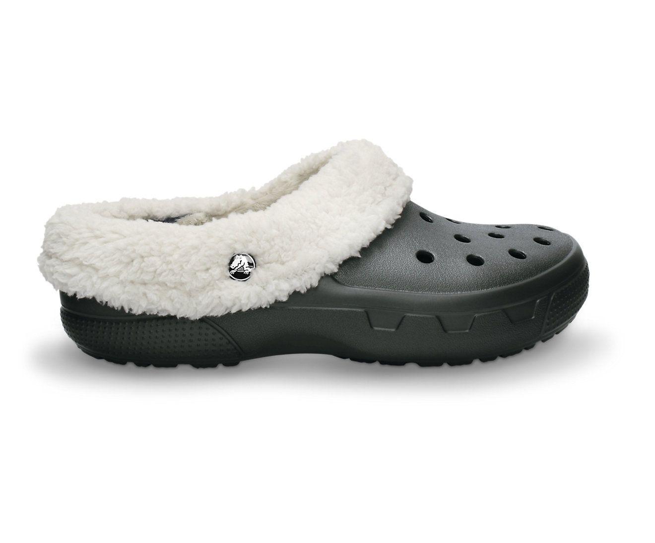Fur lined boots, Shoes, Crocs shoes