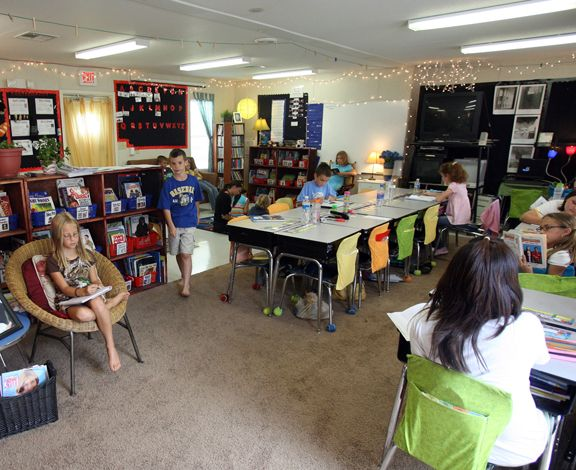 Modular Classroom Seating : Teacher makes the most of her portable classroom rcs