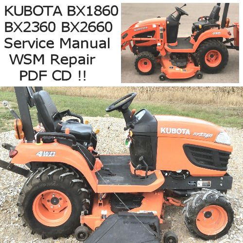 Details About Kubota Bx1860 Bx2360 Bx2660 Tractor Service border=