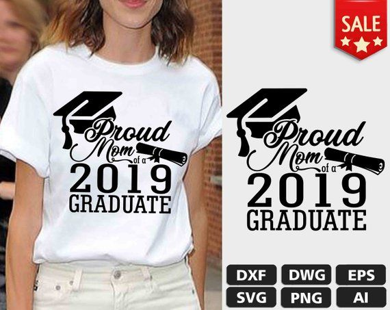 PROUD MOM of a 2019 Graduate | SVG Eps Png Ai Dxf Dwg Format