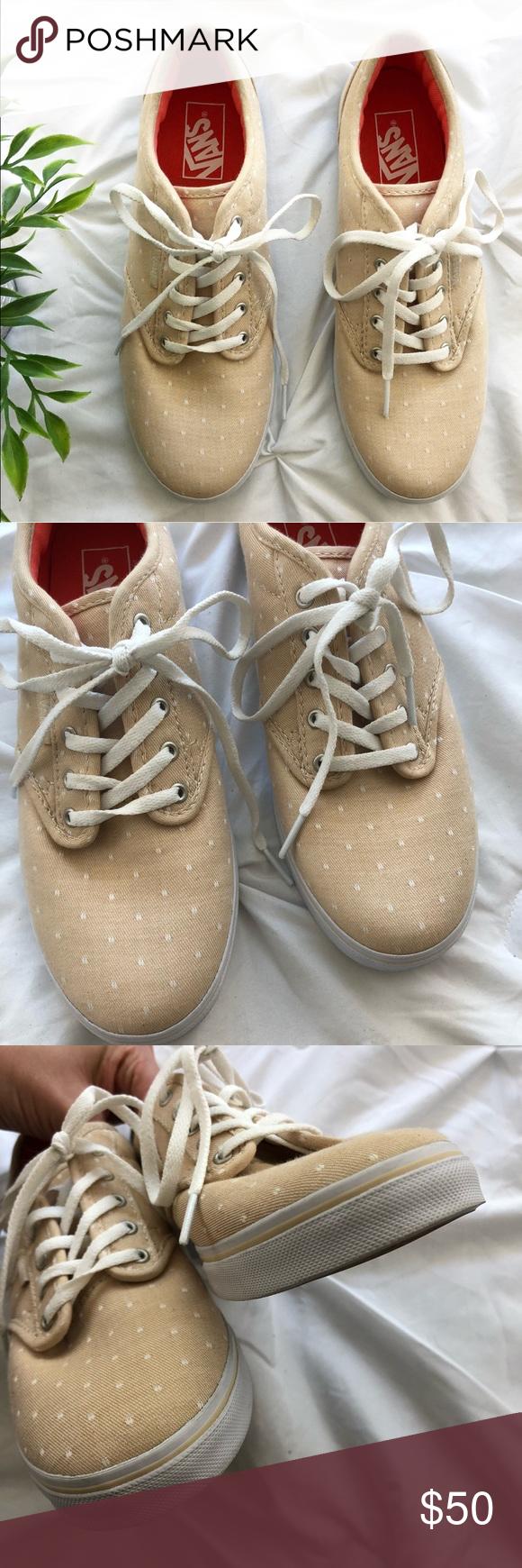 New Vans Polka Dot Beige Tennis Shoes Sneakers   Tennis shoes ...