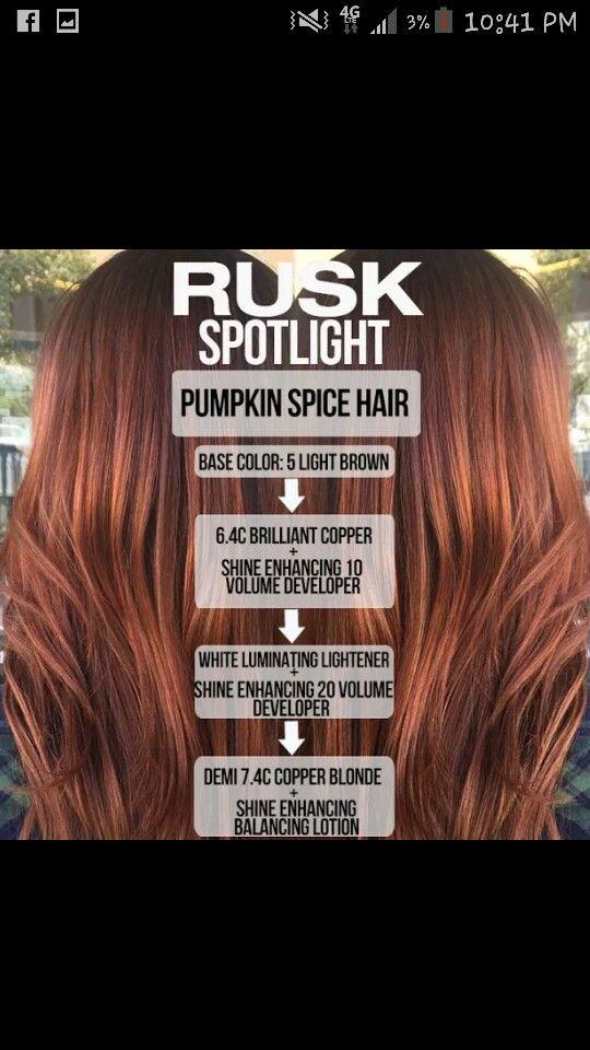 0484a02fc5 Rusk Haircolor, Autum Hair, Red Hair Color, Cool Hair Color, Hair Colours