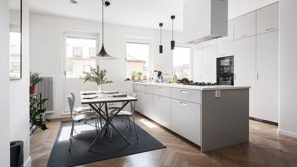 bildresultat för grått kök mässingsknoppar | küche | pinterest