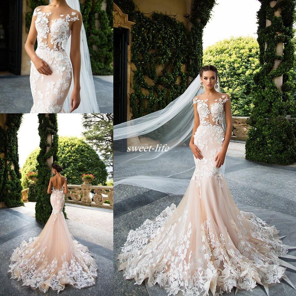 73a9b0463a2 Middle East 2017 Wedding Dresses Mermaid Bridal Dresses Trailing ...