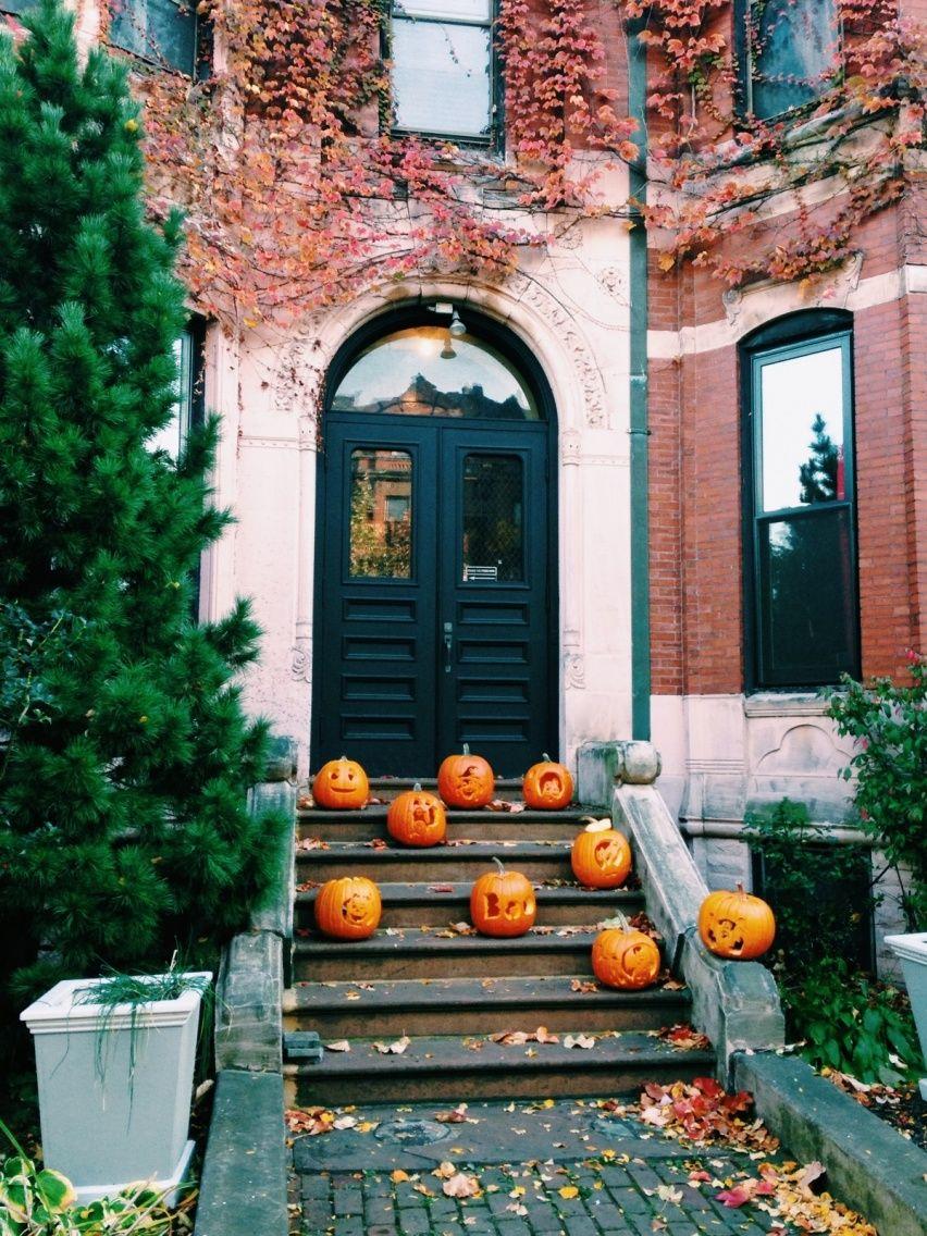 pumpkin entryway idea vsco minoot s e a s o n pinterest