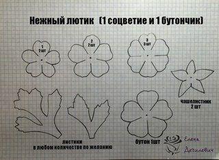 Цветы из фоамирана.Мастер-классы Елены Дегилевич