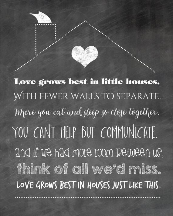 Love Grows Best In Little Houses Little Houses Print Little Etsy Diy Prints Little Houses Family Print