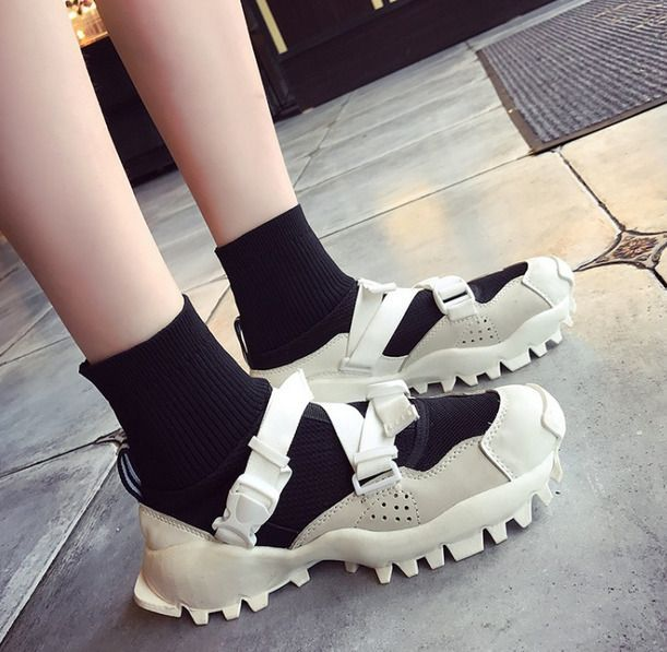 Womens Knitting Hollow Breathable Casual Shoes Sneakers Sport Round Toe Mix COlo