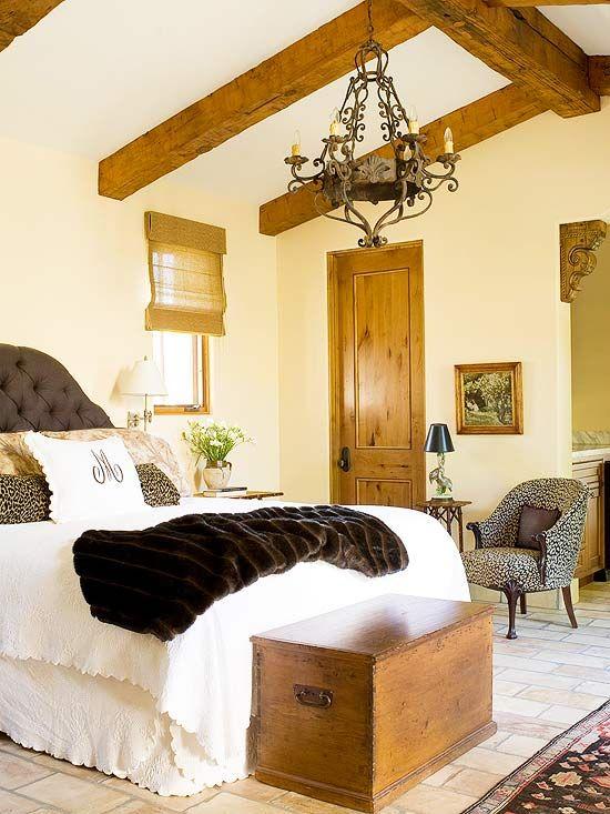 Editors\' Picks: Dream Bedrooms | Hue color, Wood doors and Fur throw