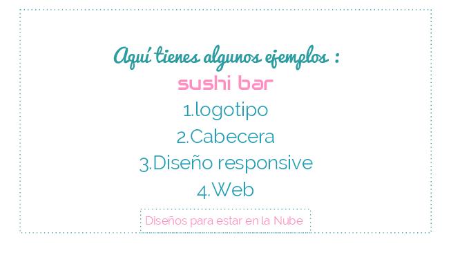 Ejemplo diseño web en wordpress , sushi bar, logotipo,cabecera, responsive ..