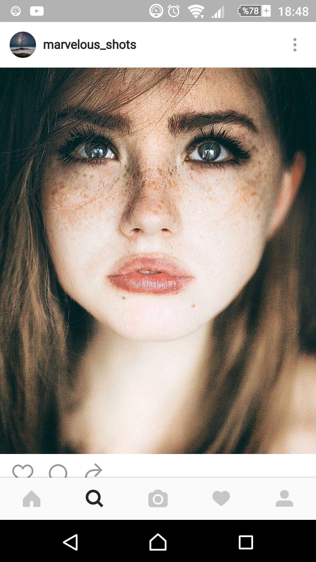 Freckles,naturalism, natural beauty
