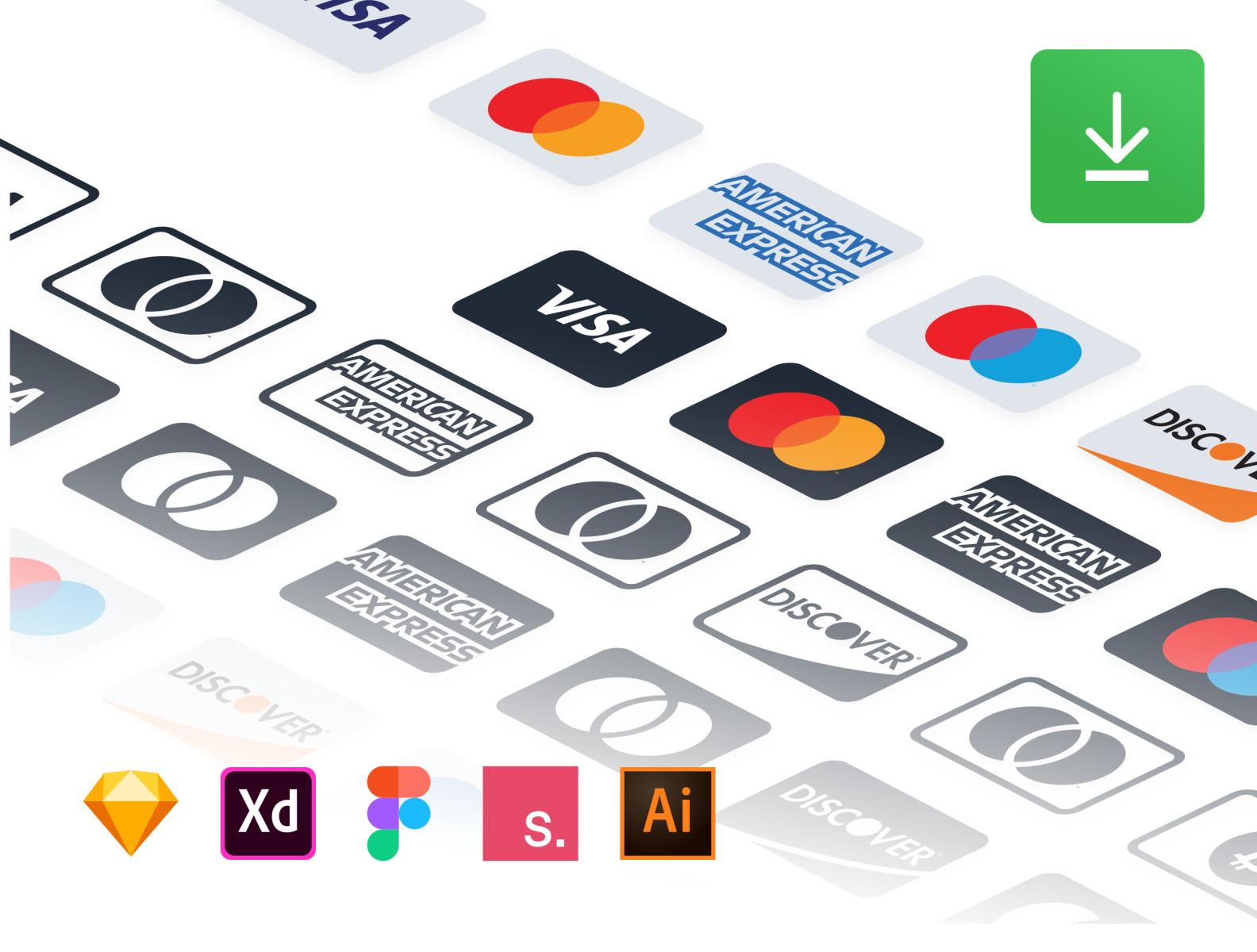 Payment Methods Free Resource Credit Card Icon Design Freebie Minimal Web Design