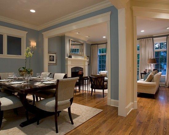Blue Living Room Oak Traditional