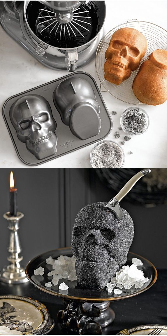human skull mould to make all your gory and creepy halloween cakes and treats or - Gory Halloween Food Ideas