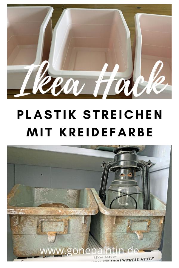 PLASTIK STREICHEN MIT KREIDEFARBE - IKEA HACK