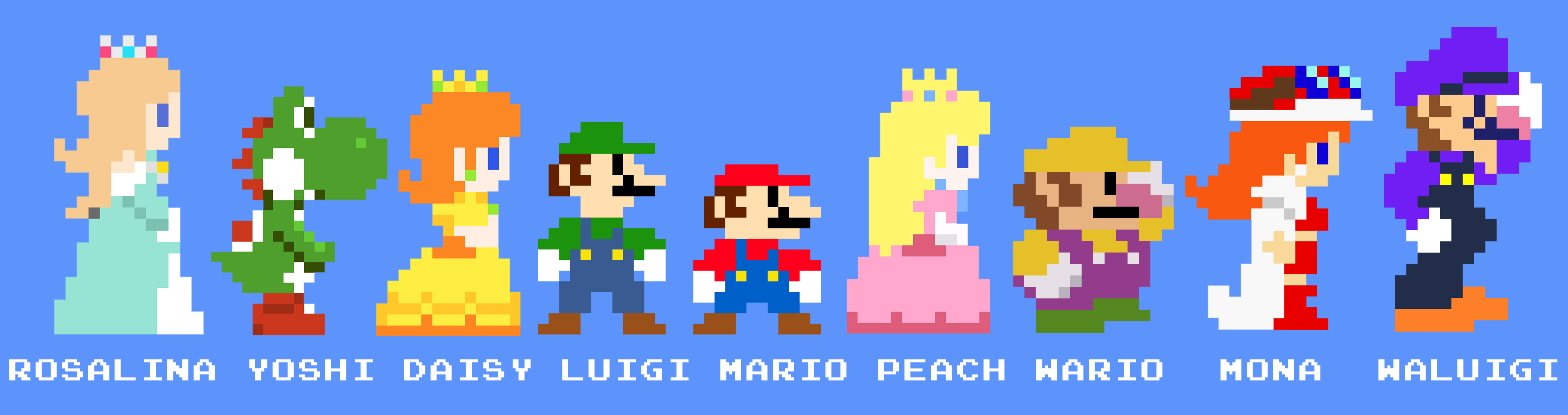 Mario Crew 8bits By Zefrenchmdeviantartcom On At Deviantart