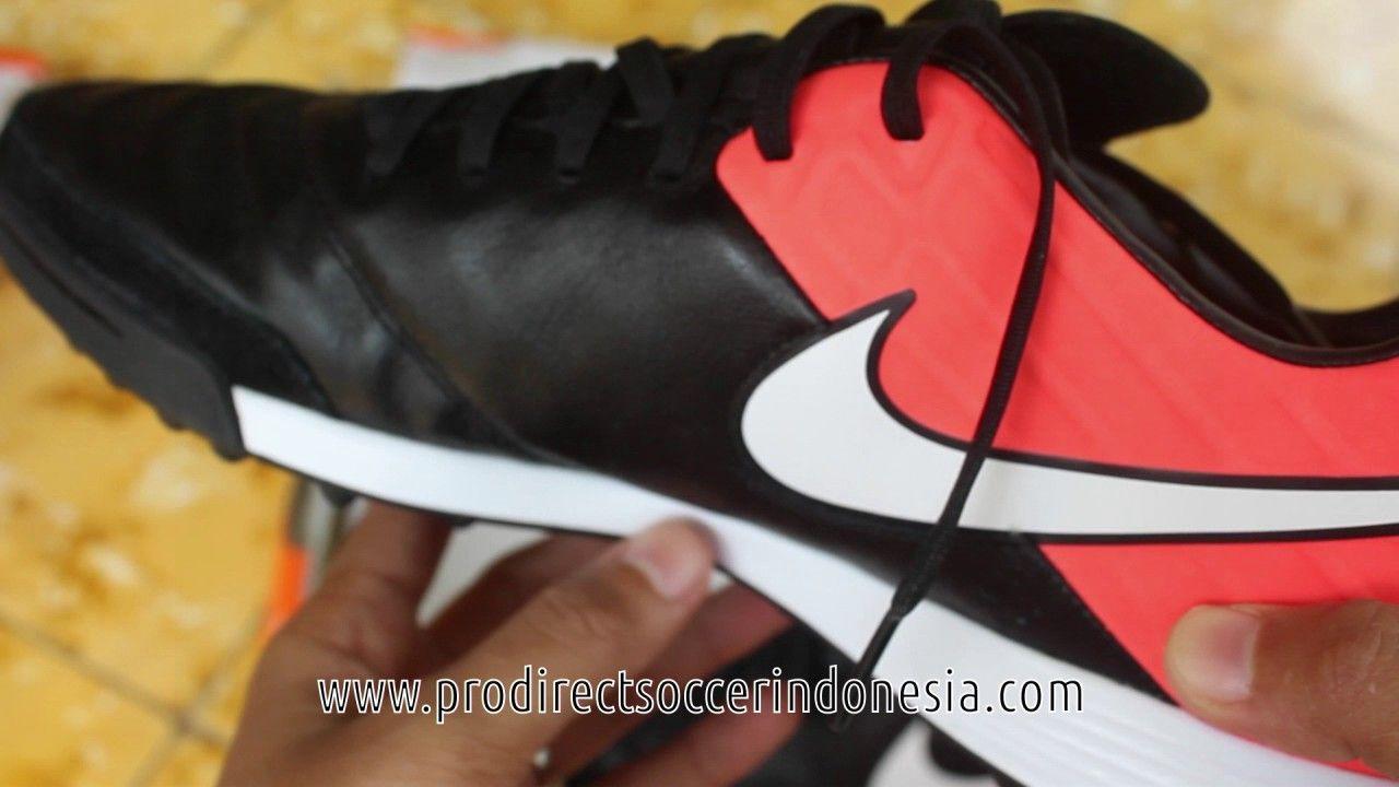 Sepatu Futsal Nike Tiempox Mystic V Tf Black White Hyper Orange