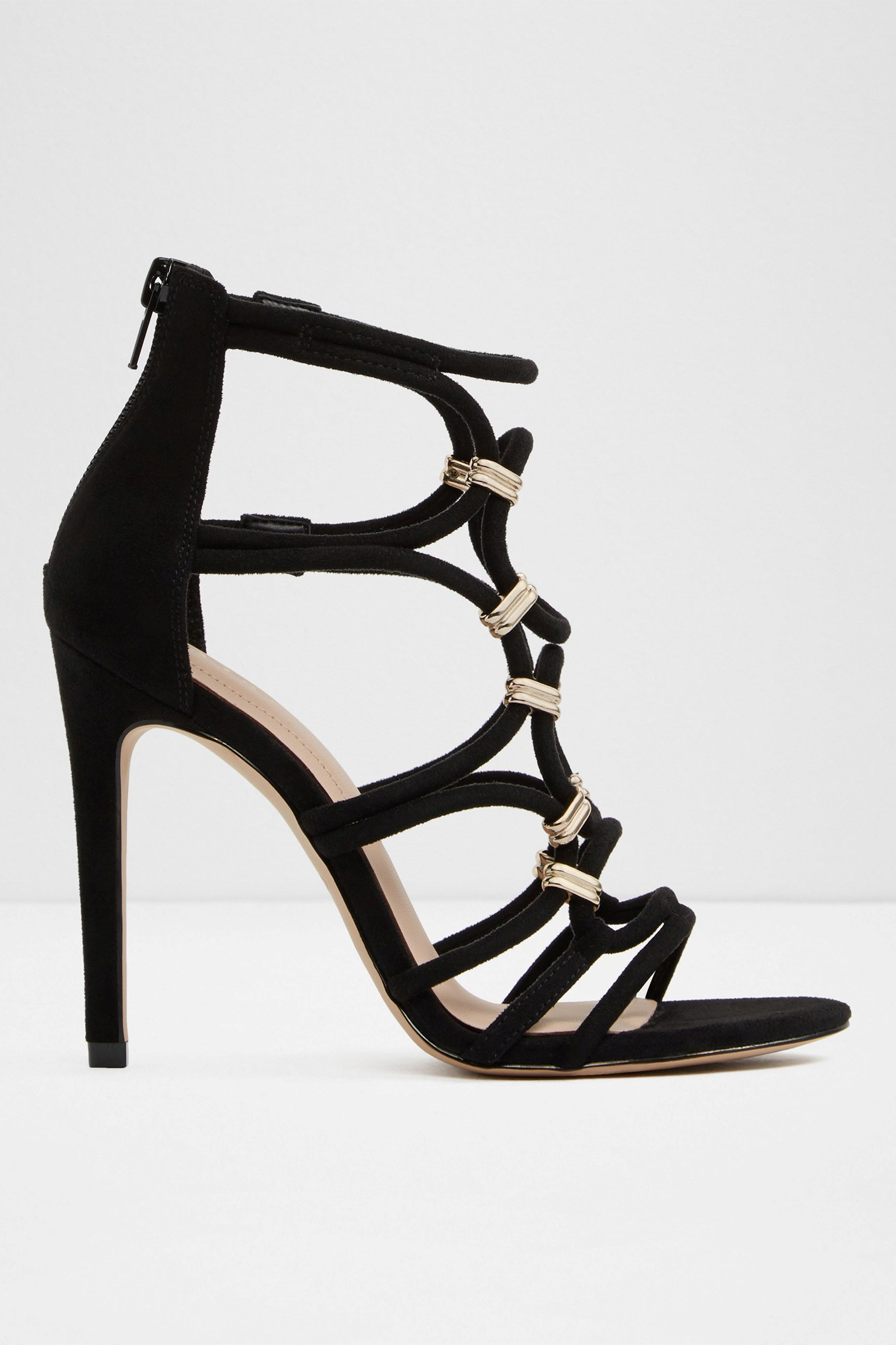 456b53ae3fd Womens Aldo Caged Heel Sandal - Black | Products | Caged heels ...