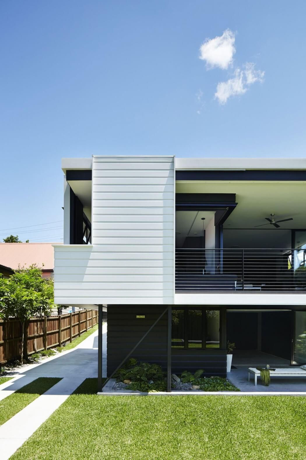 White Facade Welcoming Modern House with Panoramic Views in ...