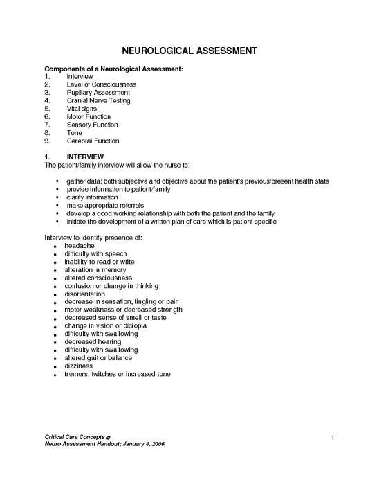 Image result for neurological assessment tools EMT SUMMER 2015 - overtime request form