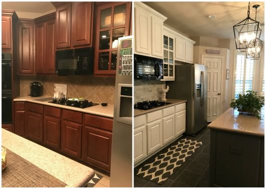 Best Gypo At Home Our Kitchen Reno Before And After Painting 400 x 300