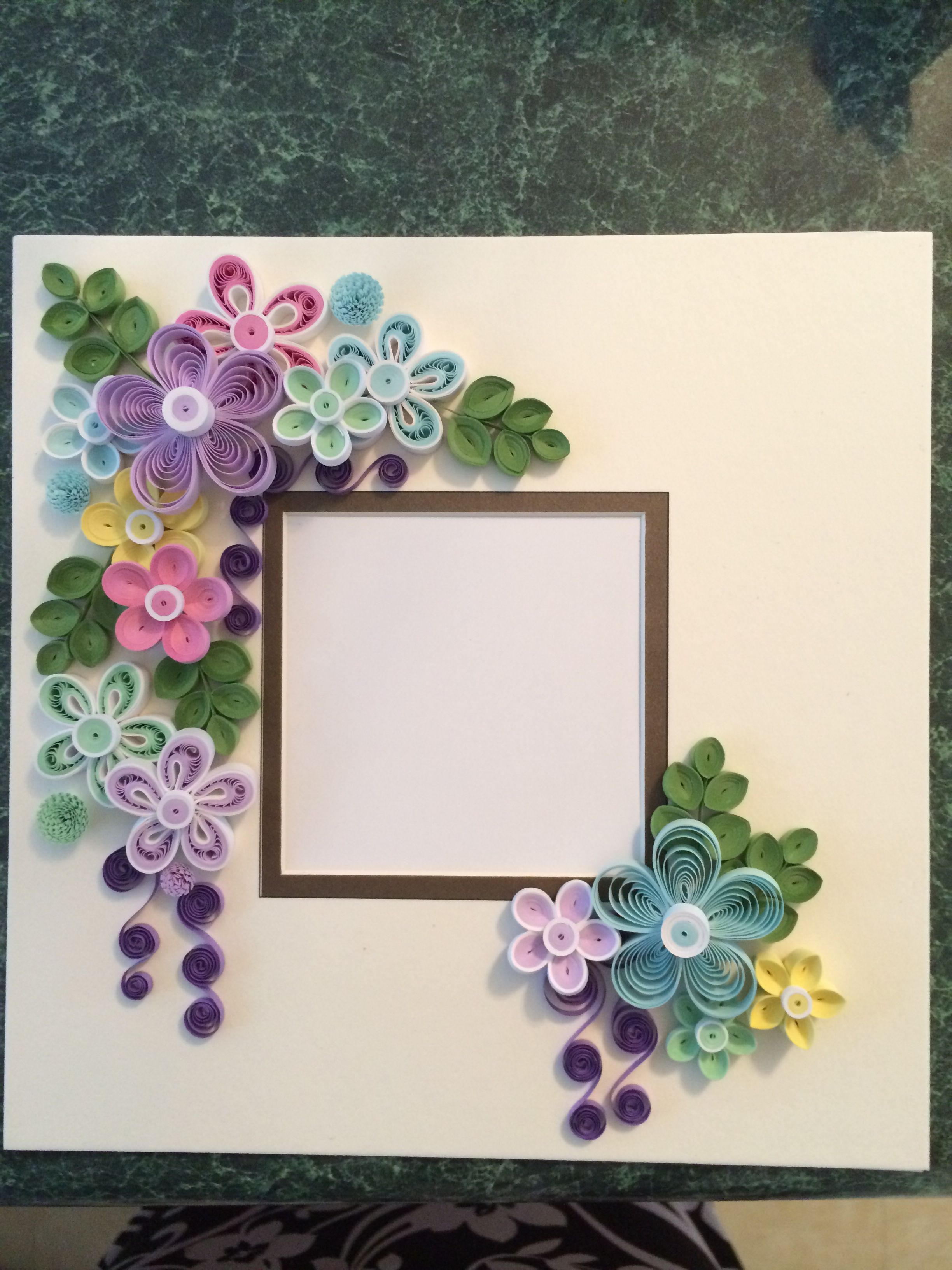 Calendar Wallpaper Quilling : Quilled frame for shadow box by ginny huff my